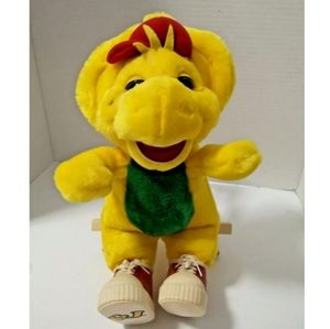 "BJ 9"" Plush Barney & Friends dinosaur 1994 Lyons"
